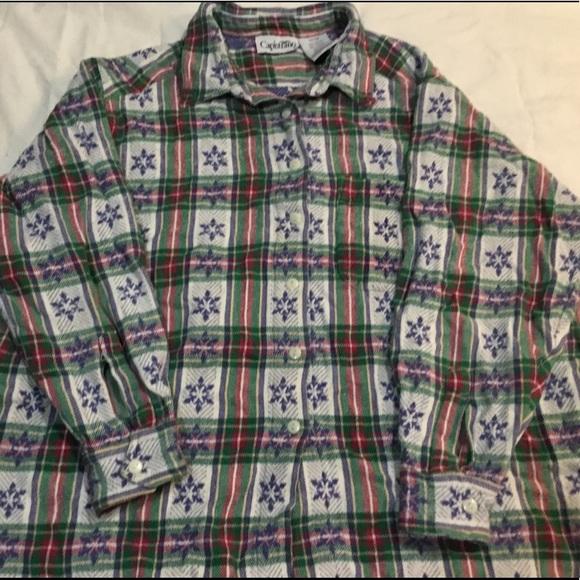 Tops - Christmas flannel snowflakes Capistrano 22/24